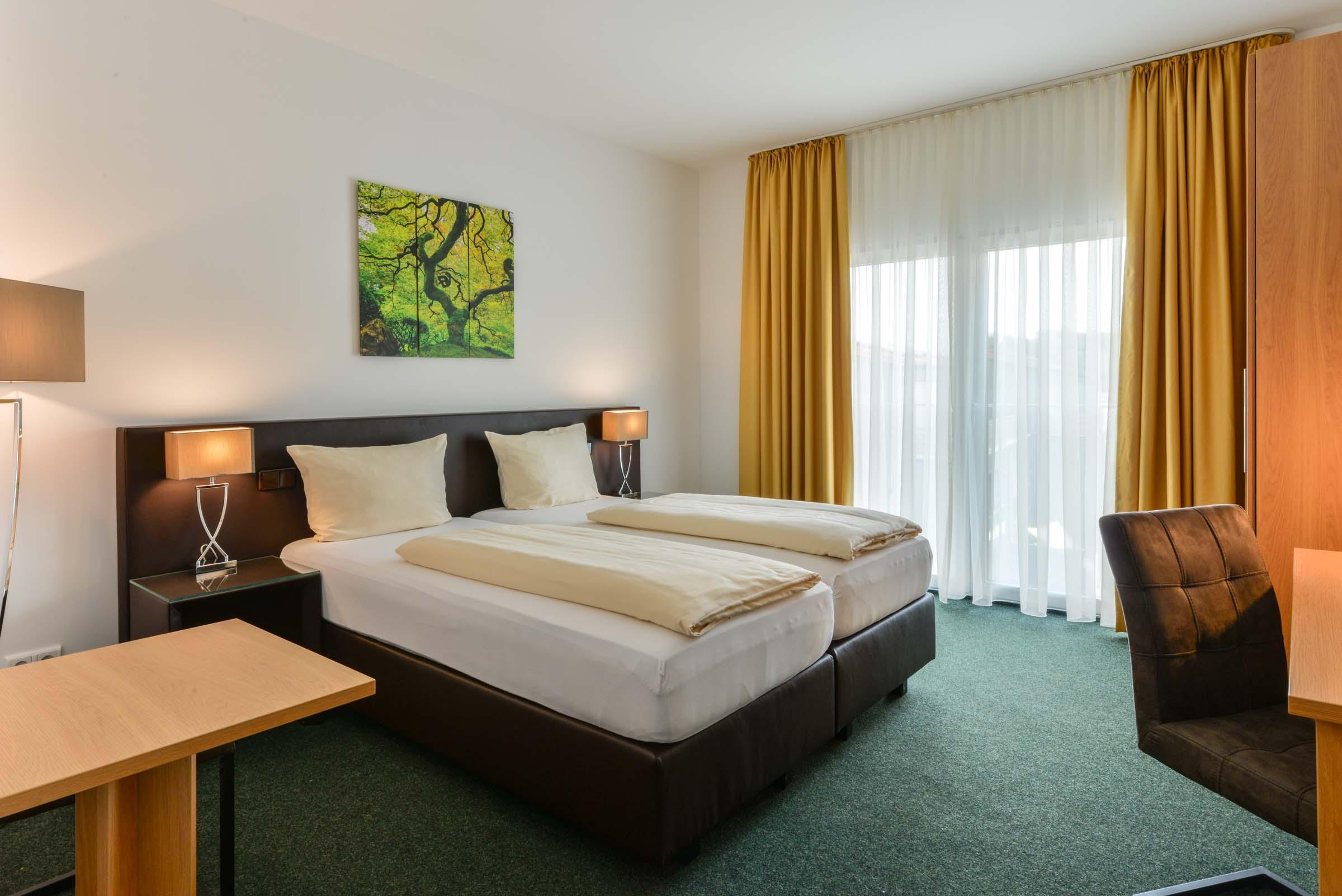 Schöne Hotelzimmer am Flughafen München